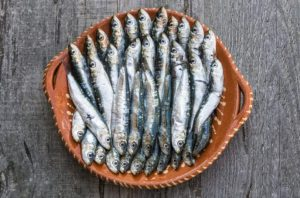 Picture of sardines on plate